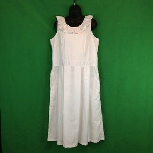 Ananya Stand Out White A-Line Sun Dress 40 Bust